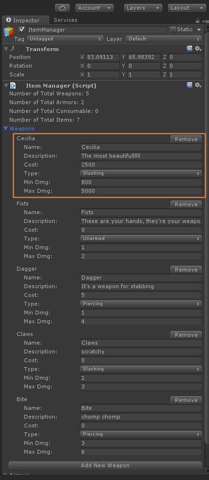 item editor